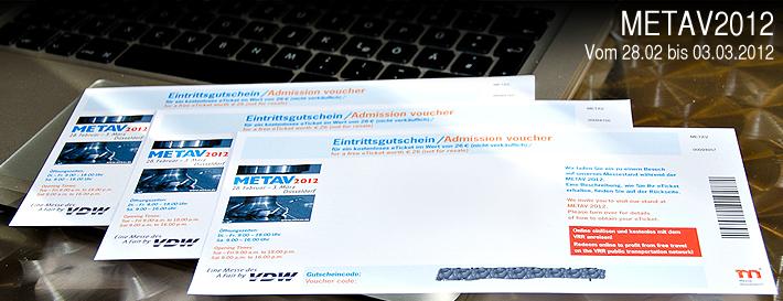 harich vergibt freie Eintrittskarten für die METAV 2012